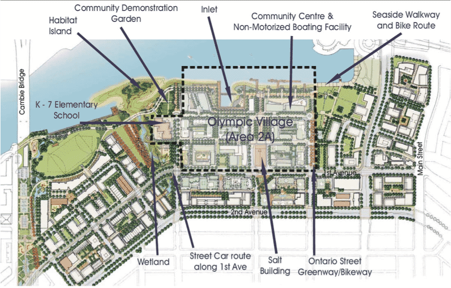 map of Olympic Village