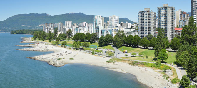 View of Vancouver's West End