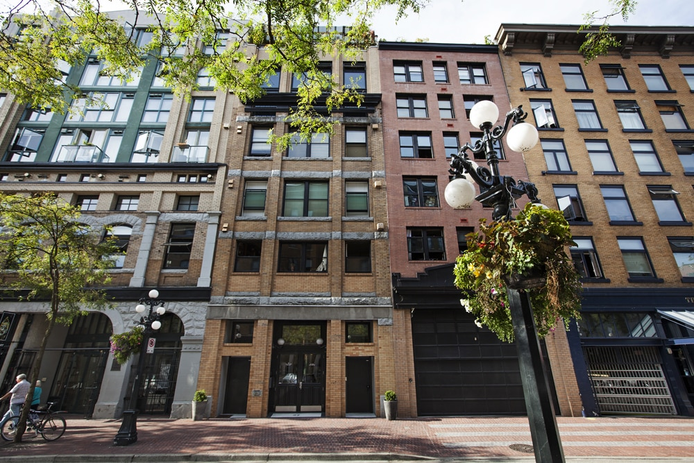 Apartment building in Gastown